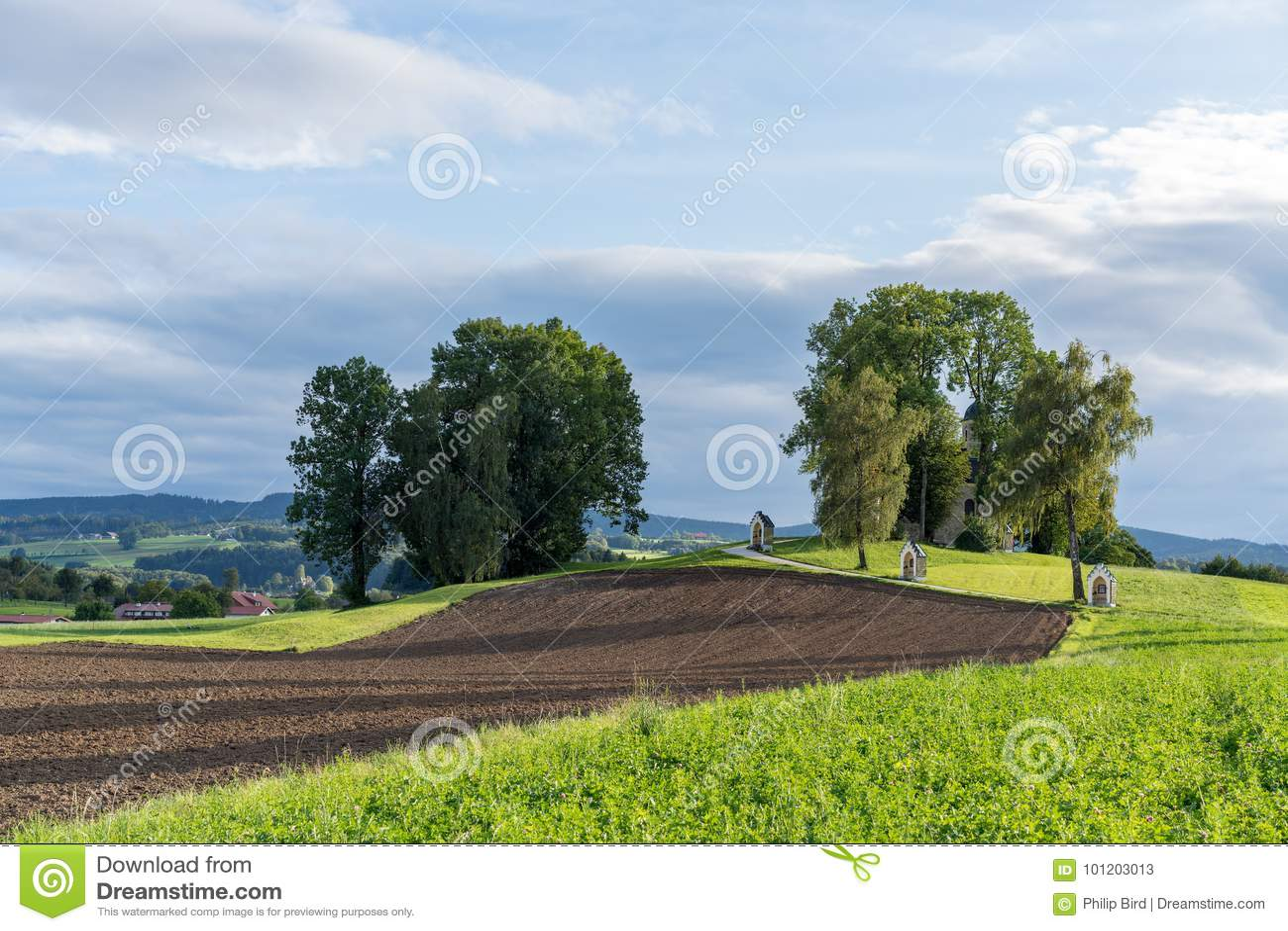ST GEORGEN UPPER AUSTRIA /AUSTRIA - SEPTEMBER 15: Calvary Chur