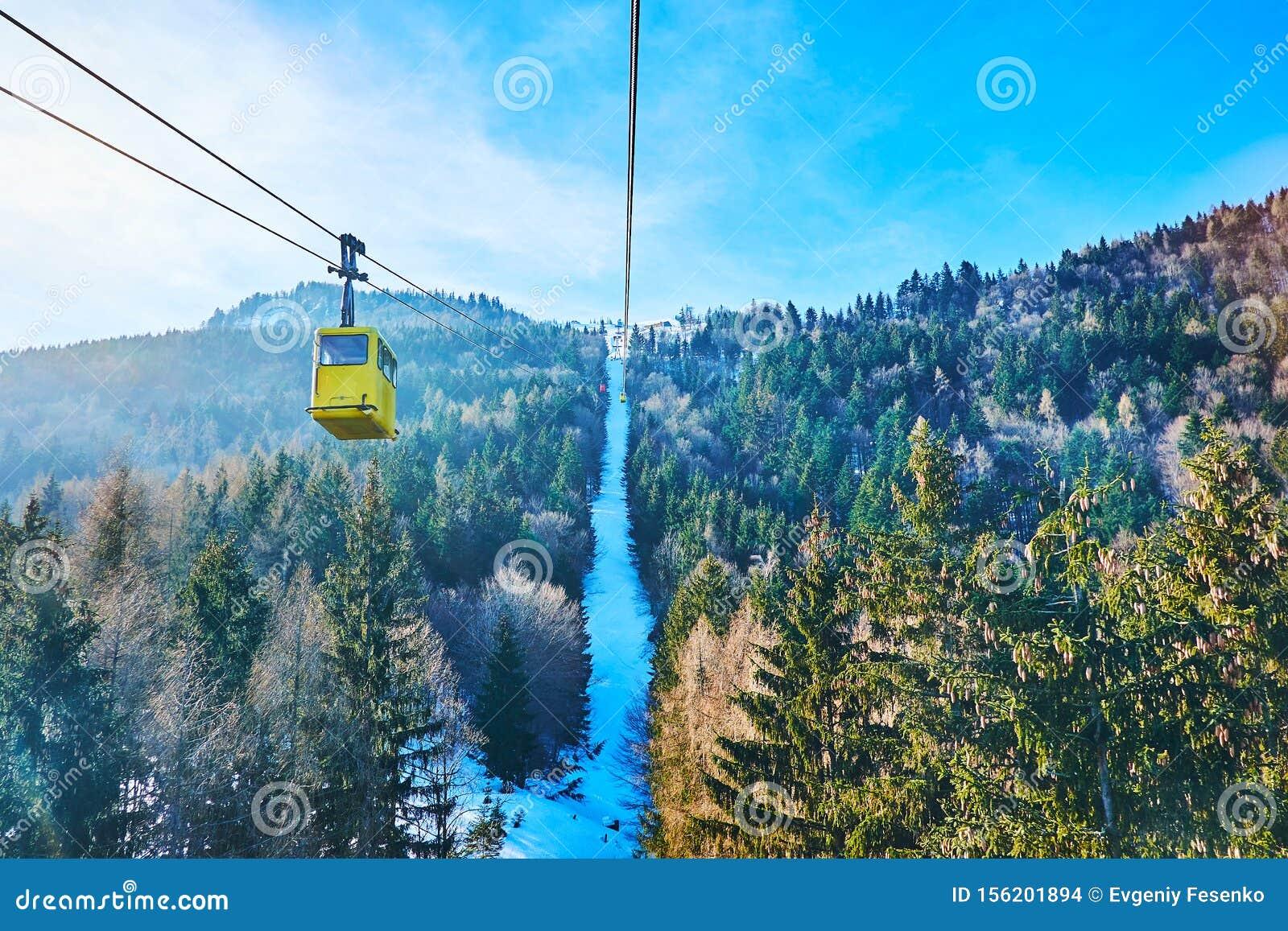 St Gilgen cable car, Salzkammergut, Austria