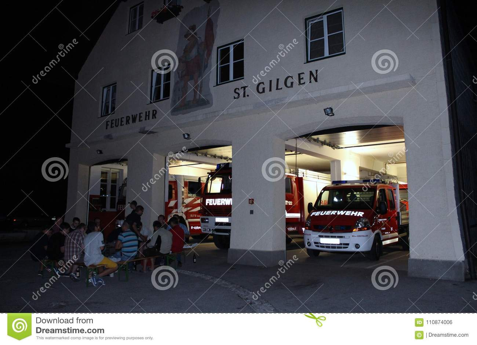 St Gilgen, Австрия: Пожарная команда городка St Gilgen