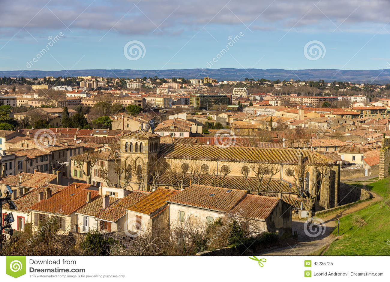 St. Gimer Church in Carcassonne, France