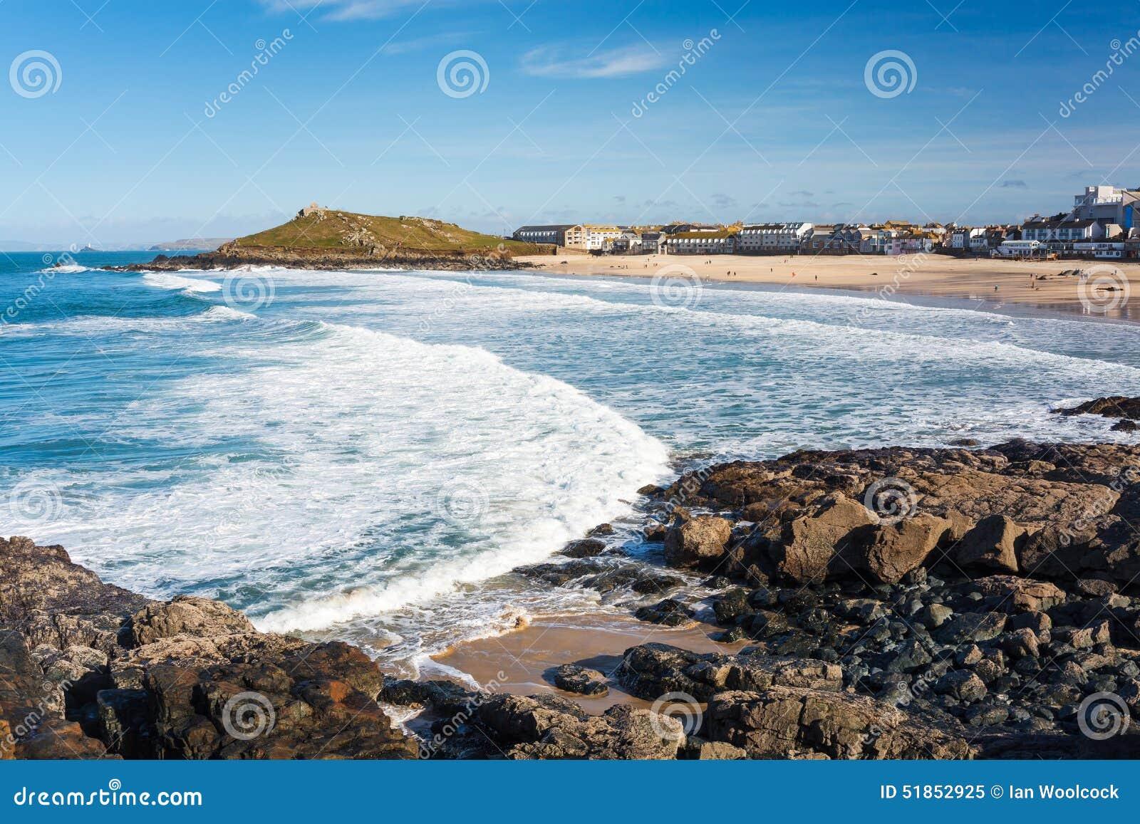 St Ives Cornwall de plage de Porthmeor
