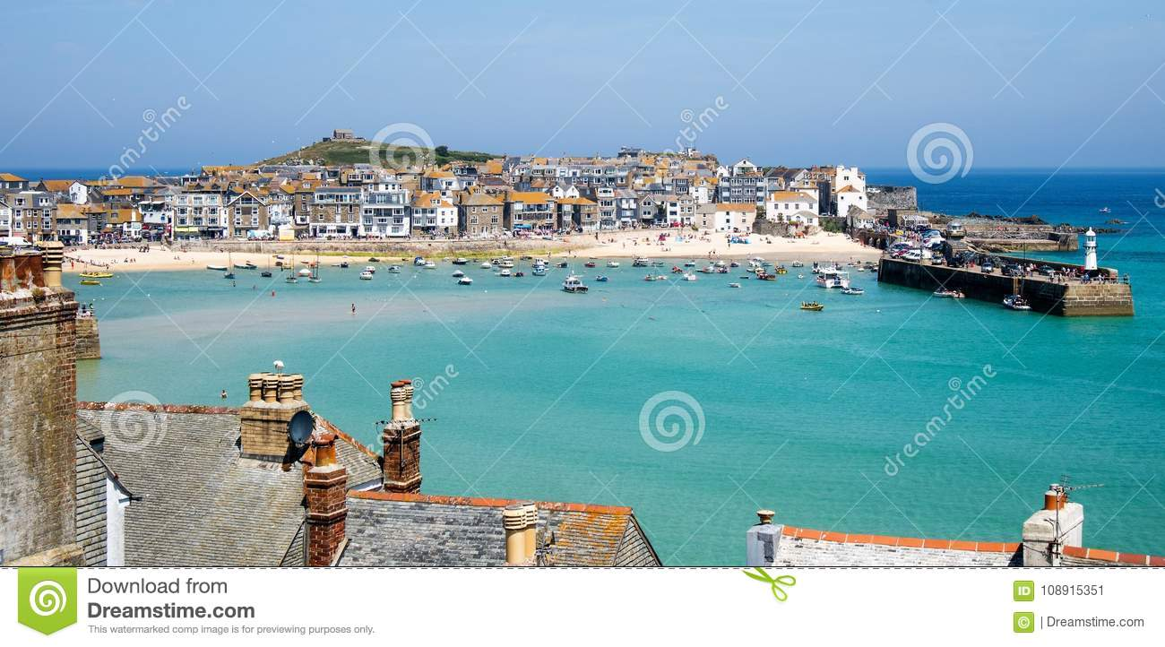 St Ives English Seaside Harbour View