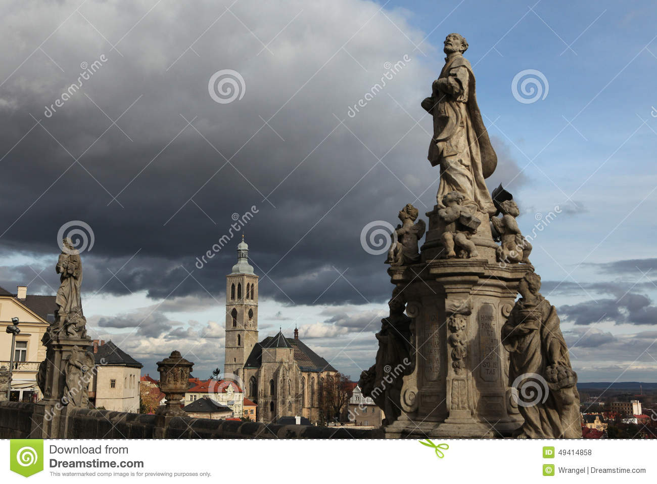Download St James Church In Kutna Hora, Tschechische Republik Stockfoto - Bild von landschaft, republik: 49414858