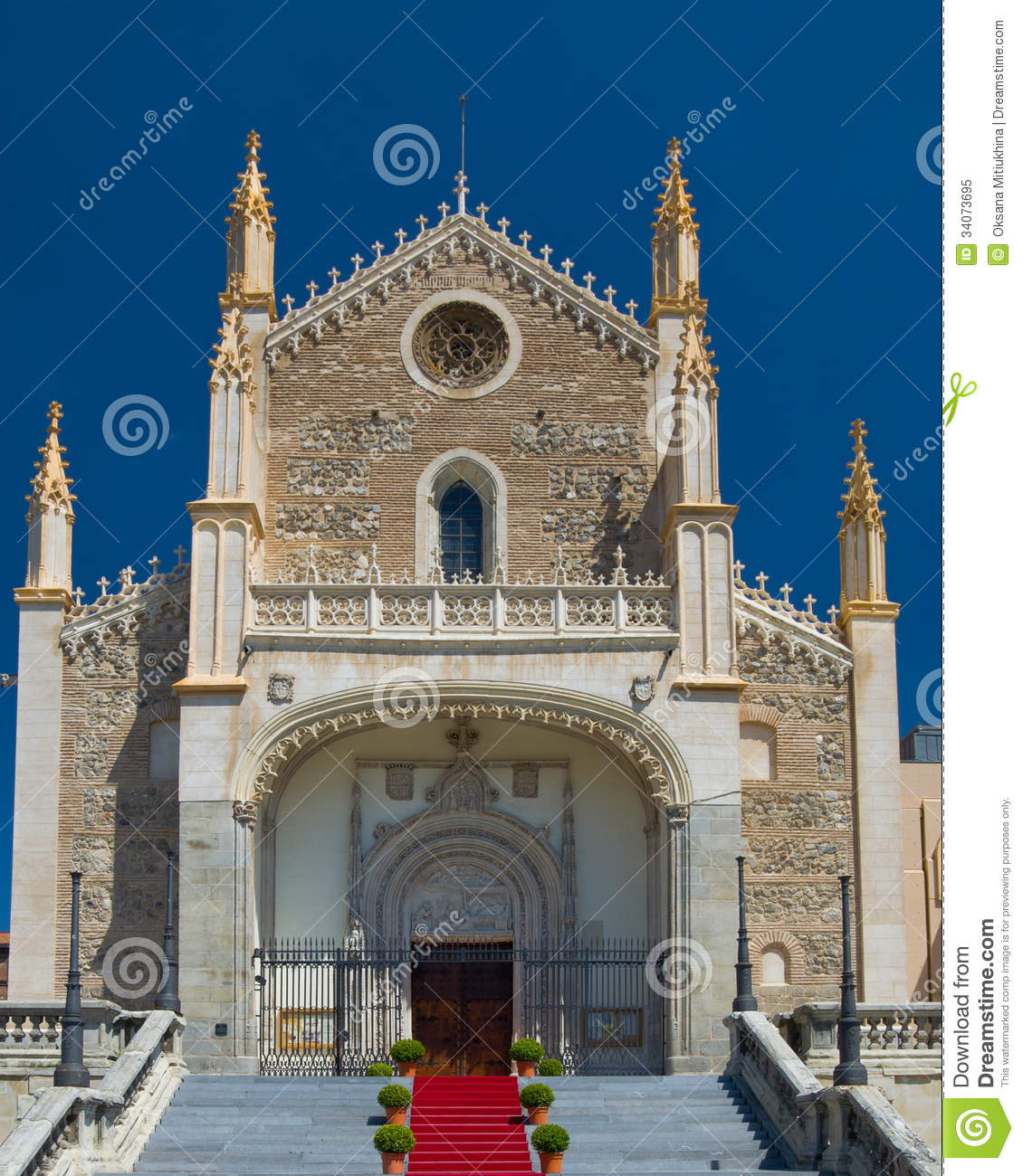 St jerome royal church in madrid royalty free stock photo image
