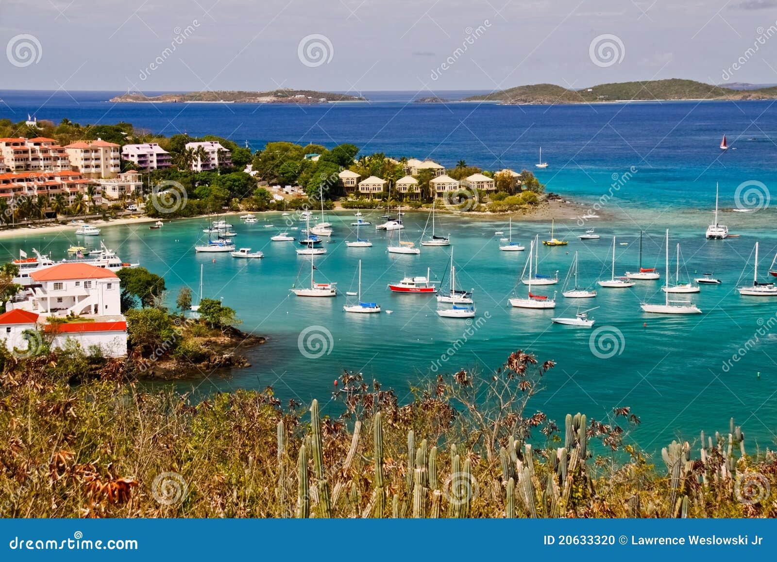 St John Usvi Stunning Cruz Bay Editorial Image Image