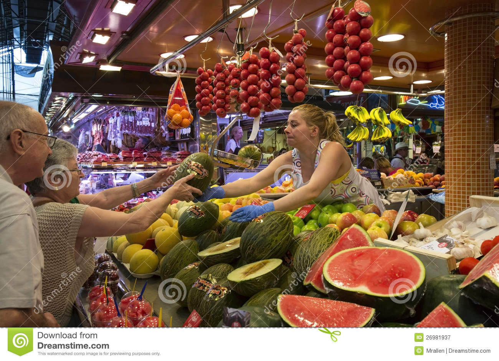Food Market Barcelona Spain