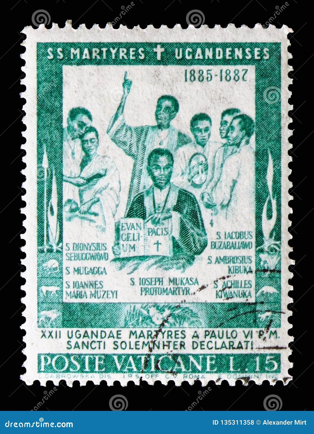 St Joseph Moussaka, consagração dos mártir do serie de Uganda, cerca de 1965