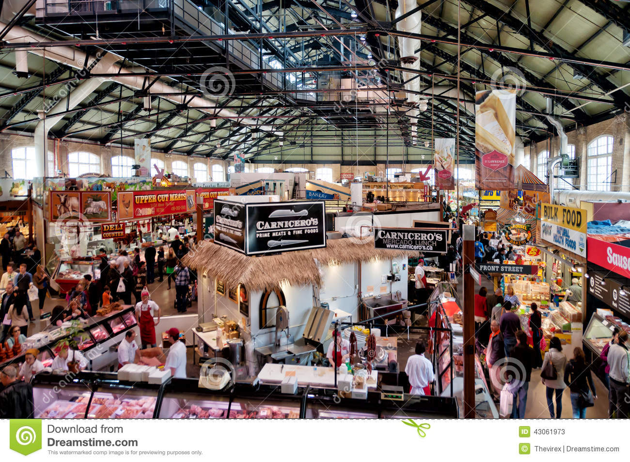 Cost U Less >> St. Lawrence Market In Toronto Editorial Stock Photo - Image: 43061973