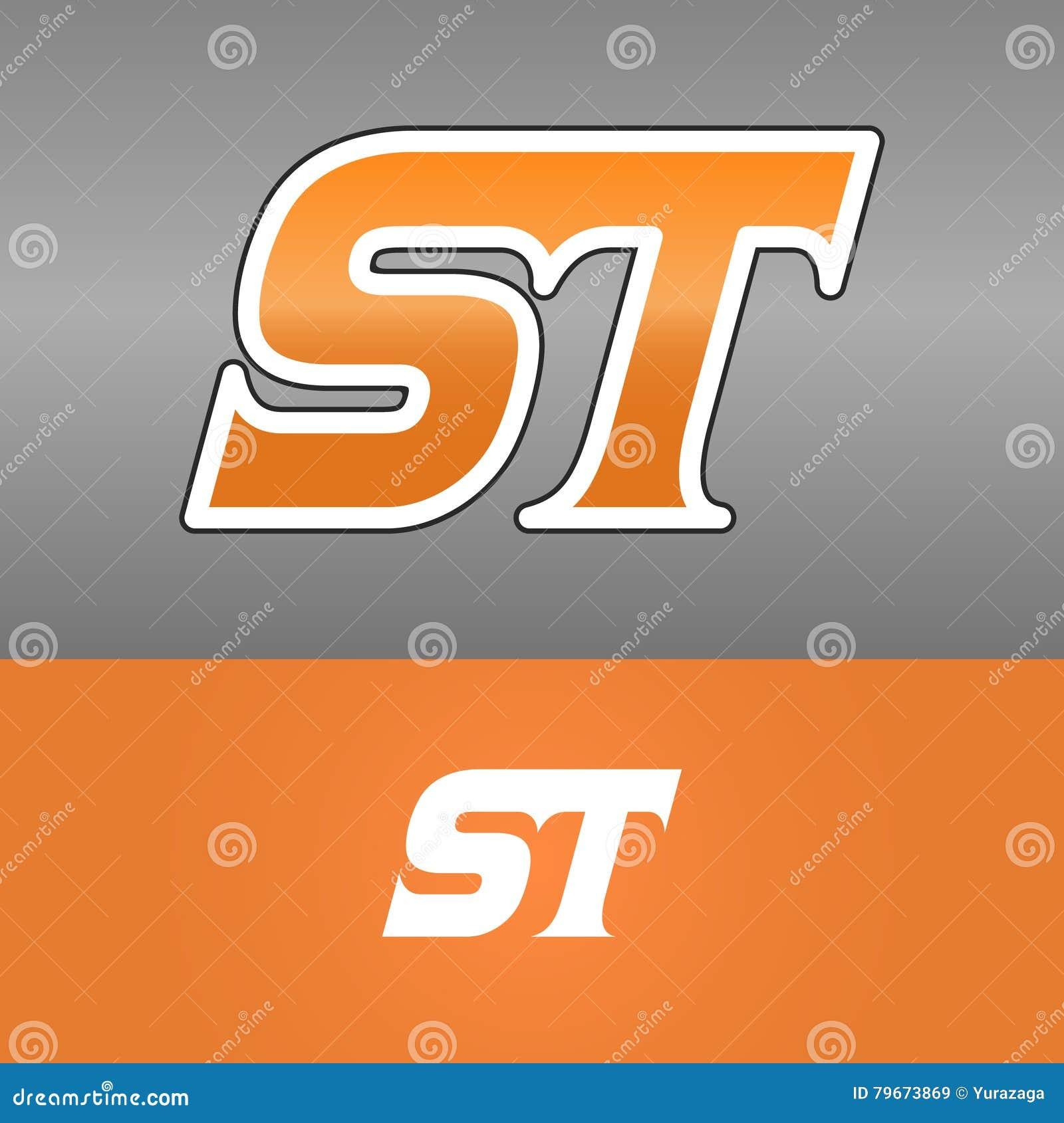 St Letter Logo Design Stock Illustration Illustration Of