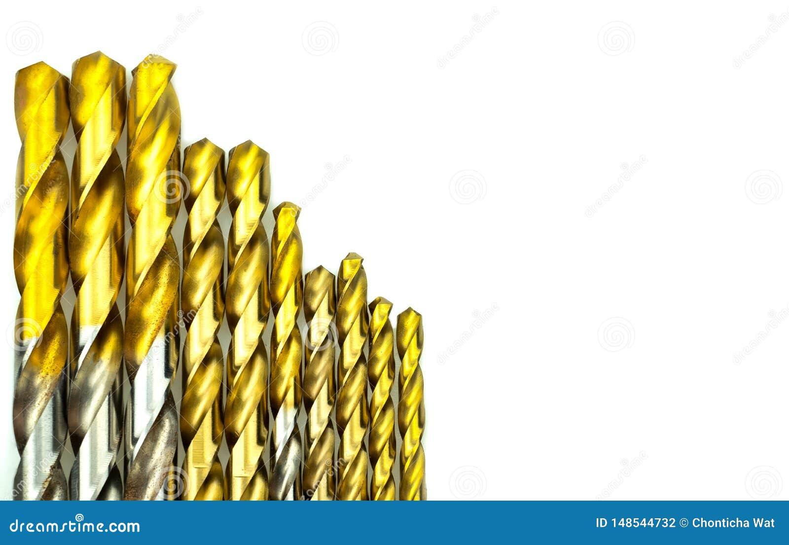 St?ll in av olika format f?r drillborrbitar f?r tr? och betong