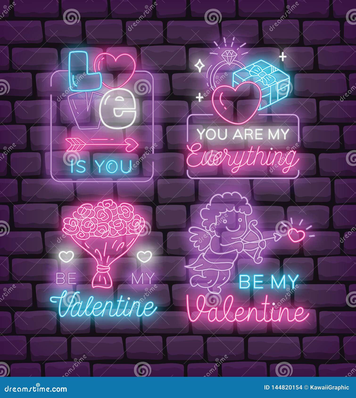 St?ll in av valentins tecken f?r dagneon