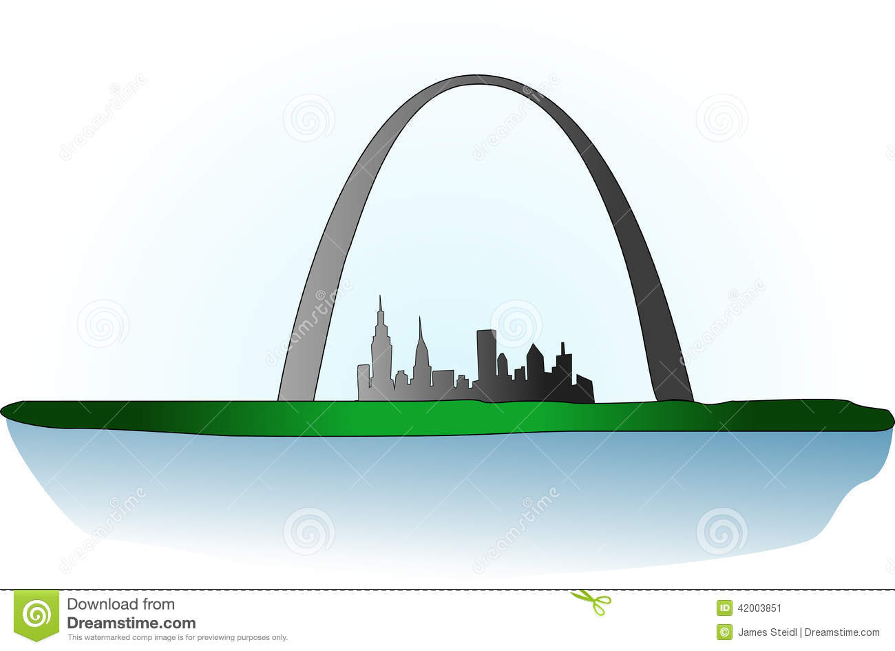 st louis arch stock vector image of vector  water  river water park slides clip art Water Park Rides
