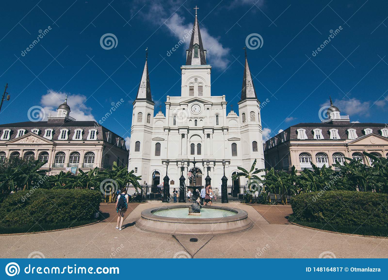 St. Louis Cathedral across Jackson Square.