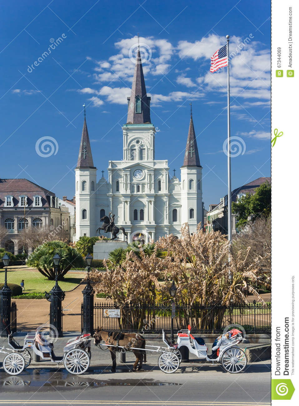 St Louis Cathedral en Jackson Square in Frans Kwart, New Orleans, Louisiane