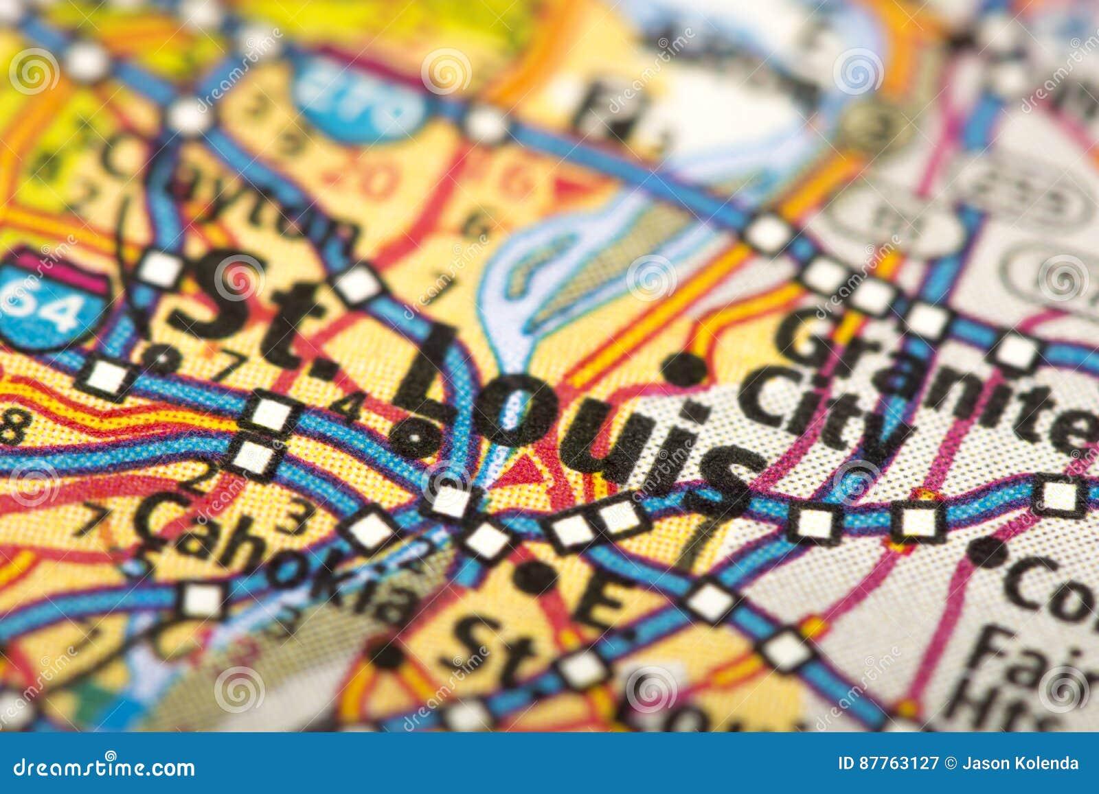 St. Louis, Missouri en mapa