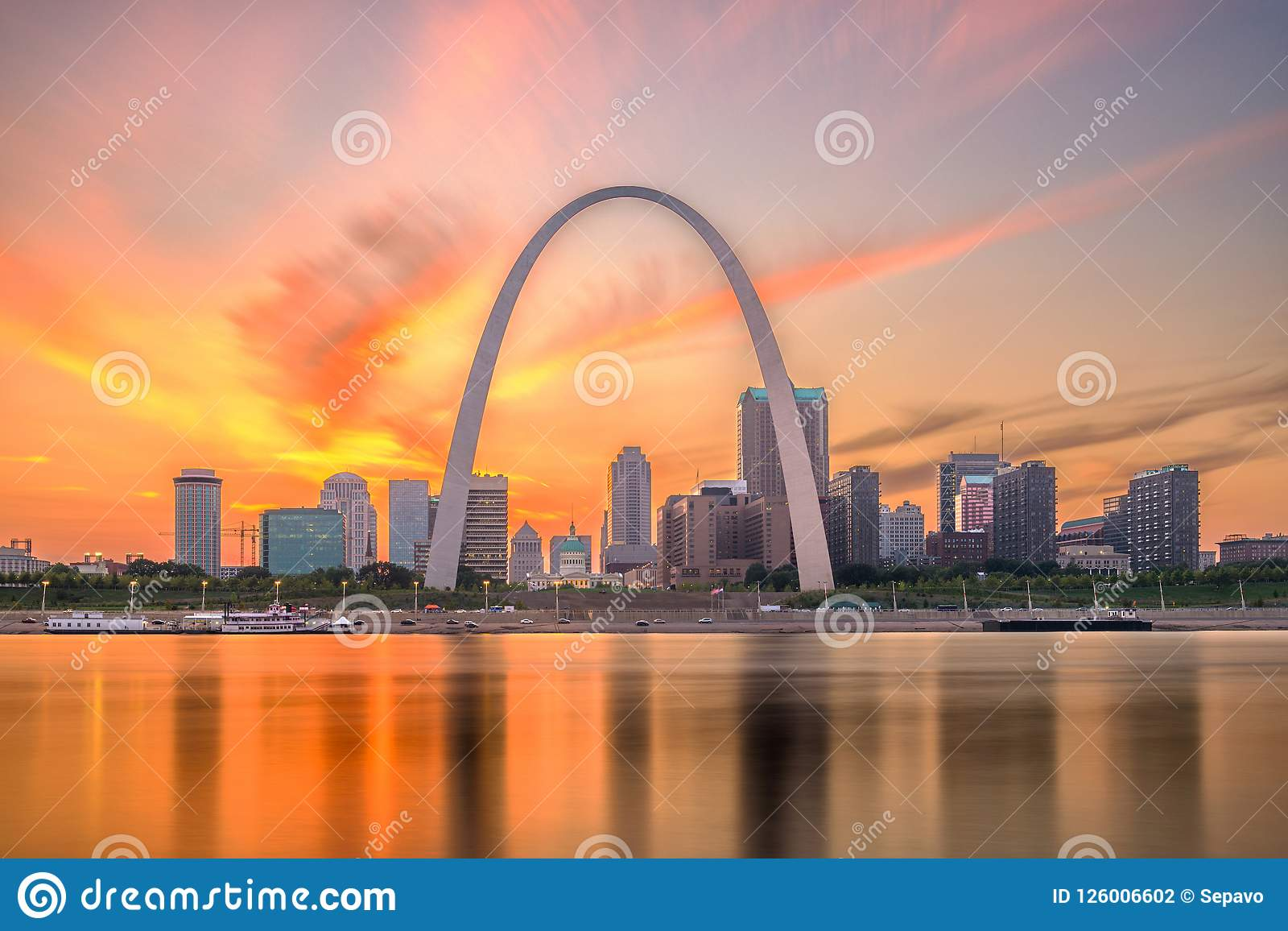 St Louis, Missouri, usa linia horyzontu