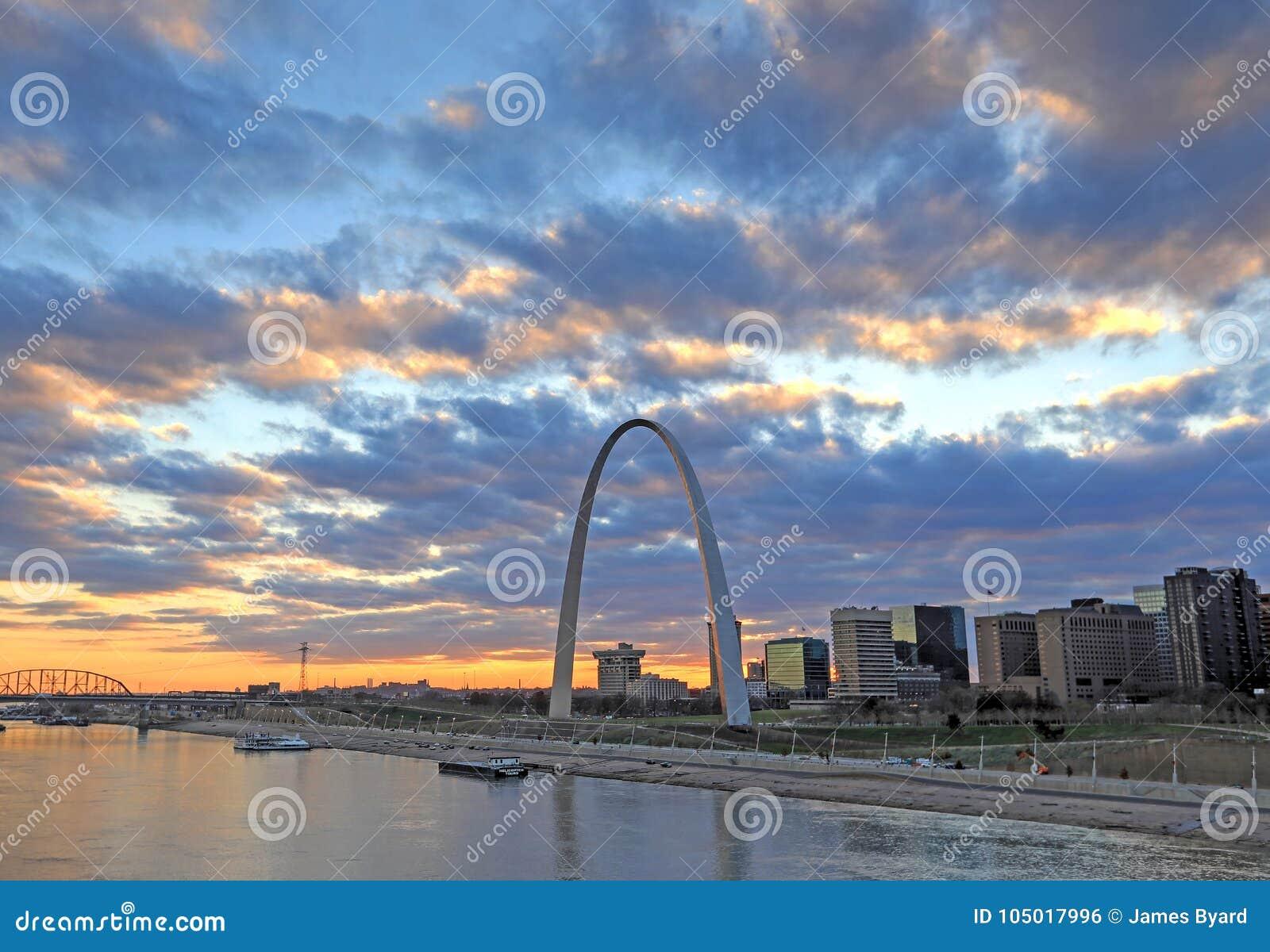 St. Louis, Missouri y el arco de la entrada