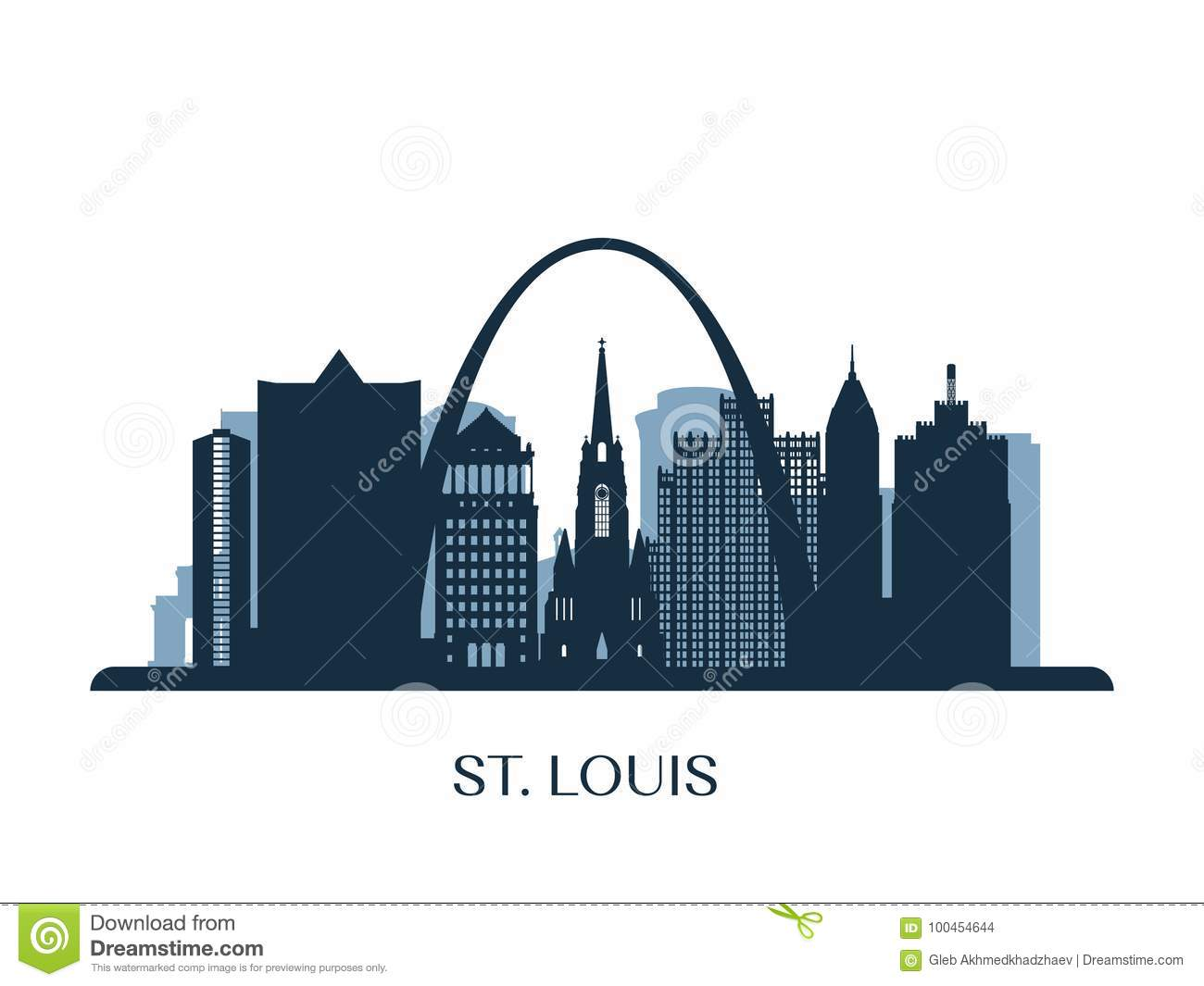 Louis Skyline St Stock Illustrations – 79 Louis Skyline St Stock