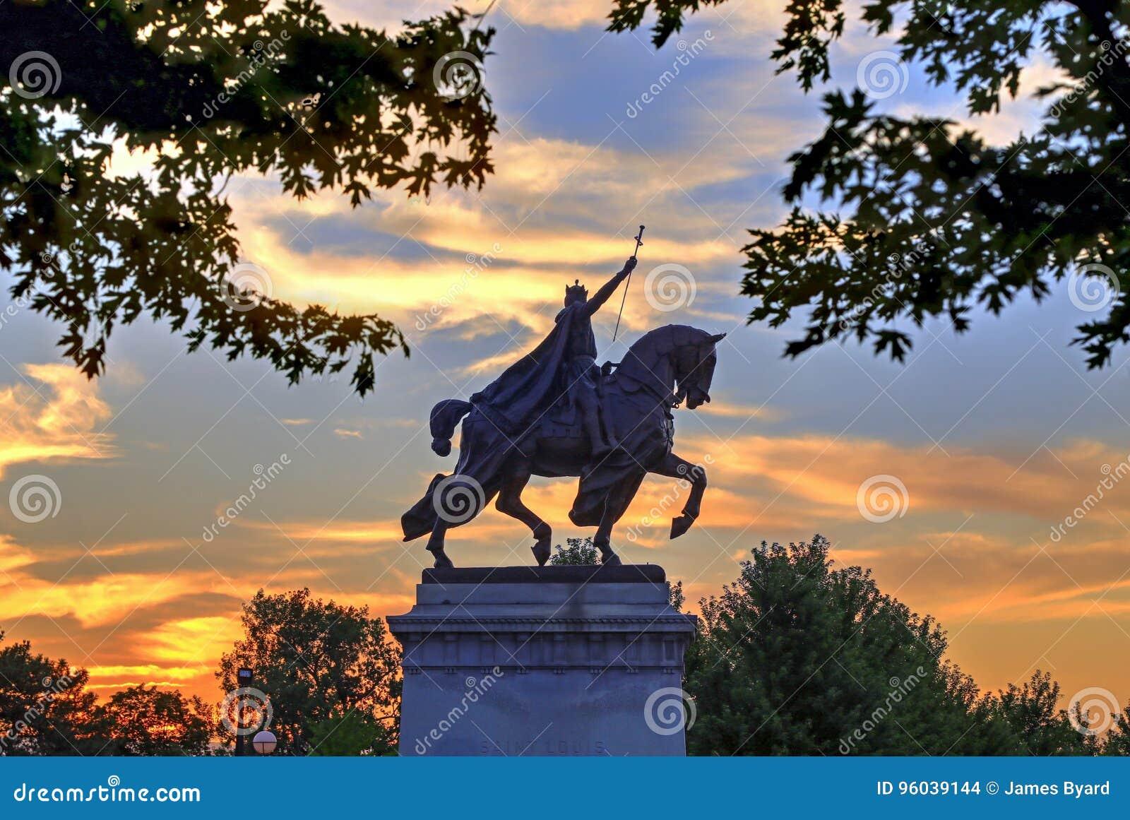 St Louis Statue Stock Photo Image Of Public Sunrise 96039144