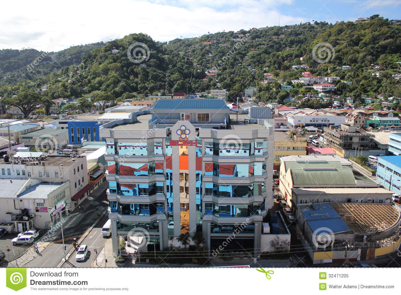 St lucia mirrored office building editorial image image 32471205