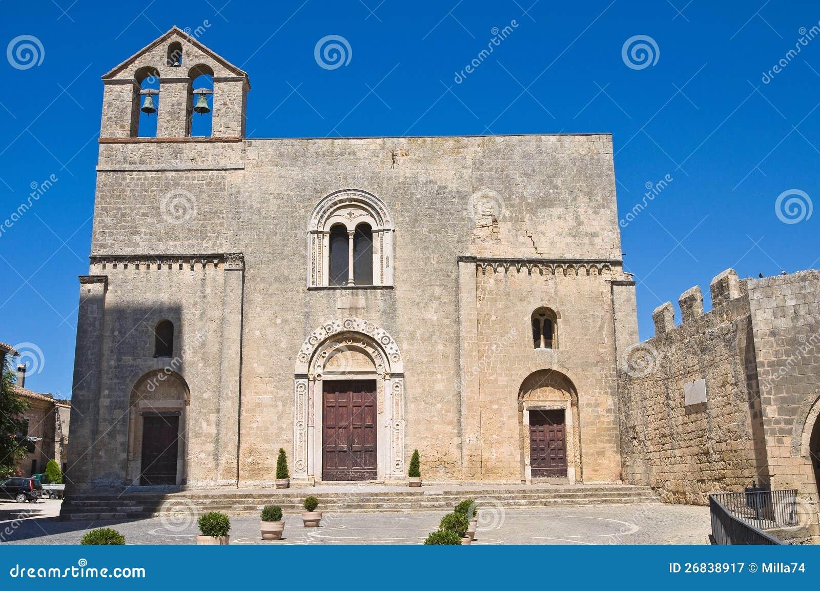 St. Maria in Castello-Kerk. Tarquinia. Lazio. Italië.