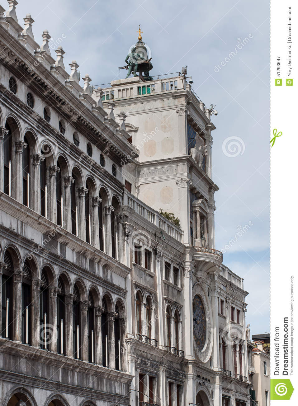St Marks Clocktower in Venice is an early renaissance building