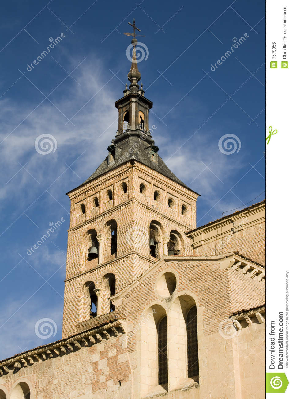 st martin bell tower segovia royalty free stock image. Black Bedroom Furniture Sets. Home Design Ideas