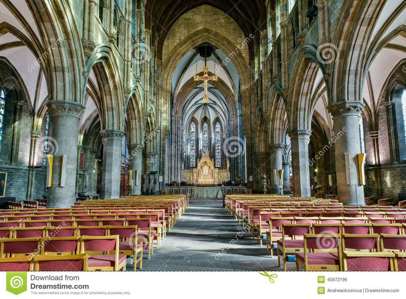 St. Mary's Episcopal Cathedral Stock Photo - Image of ...