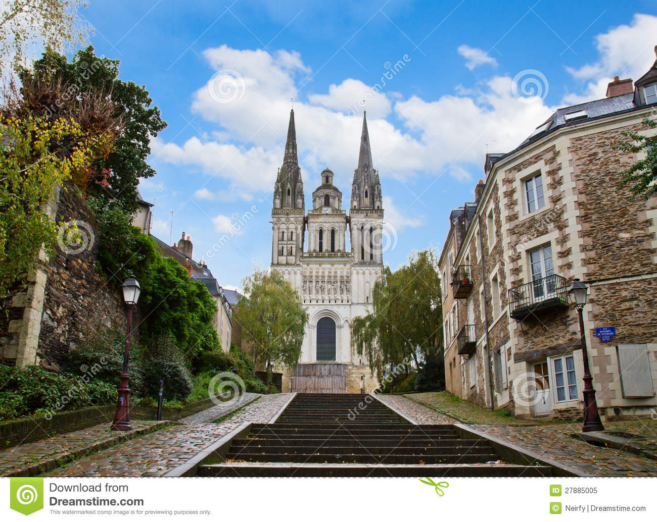 Saint-Maurice France  city photos gallery : St Maurice Cathedral, Angers, France Royalty Free Stock Photo Image ...