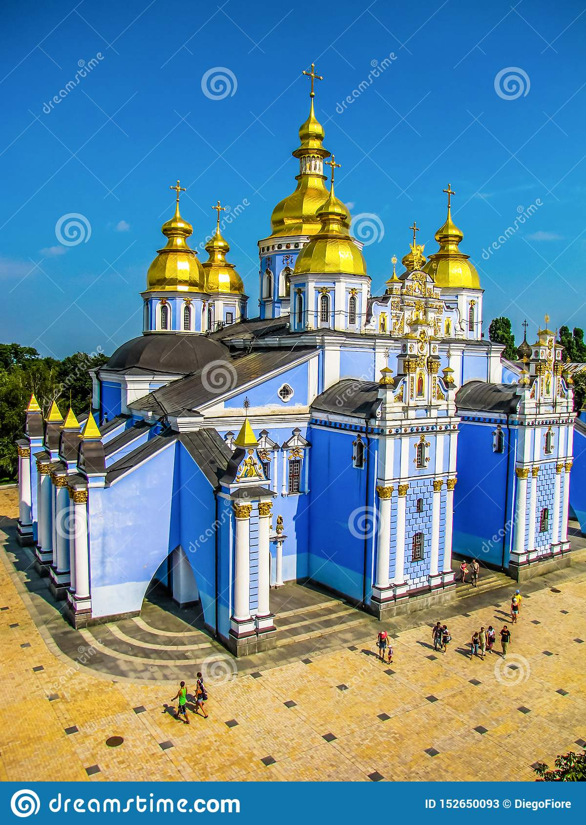 St Michael Golden-Domed Monastery em Kiev, Ucr?nia