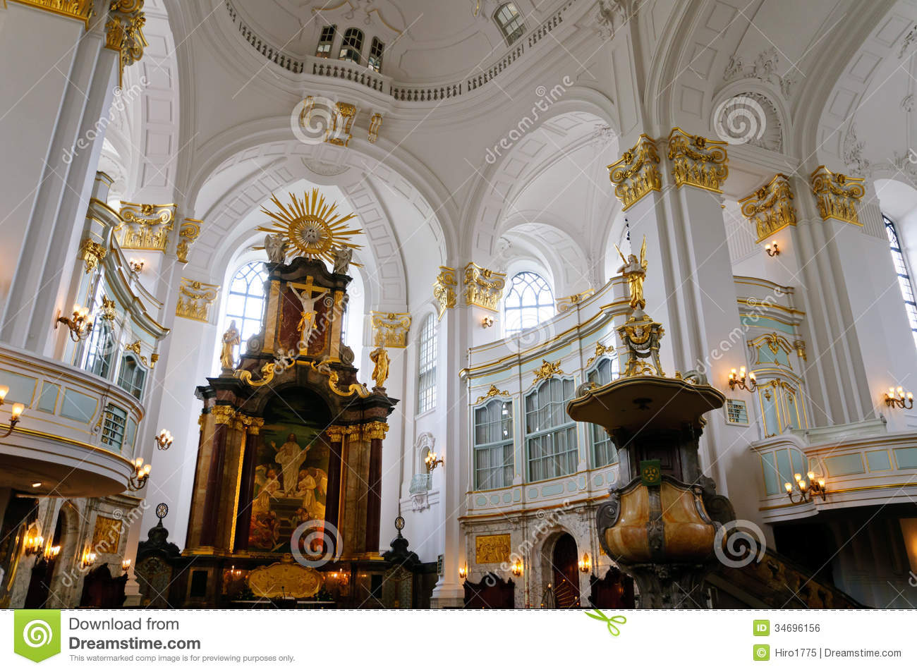 st michael kirche in hamburg lizenzfreies stockbild bild 34696156. Black Bedroom Furniture Sets. Home Design Ideas