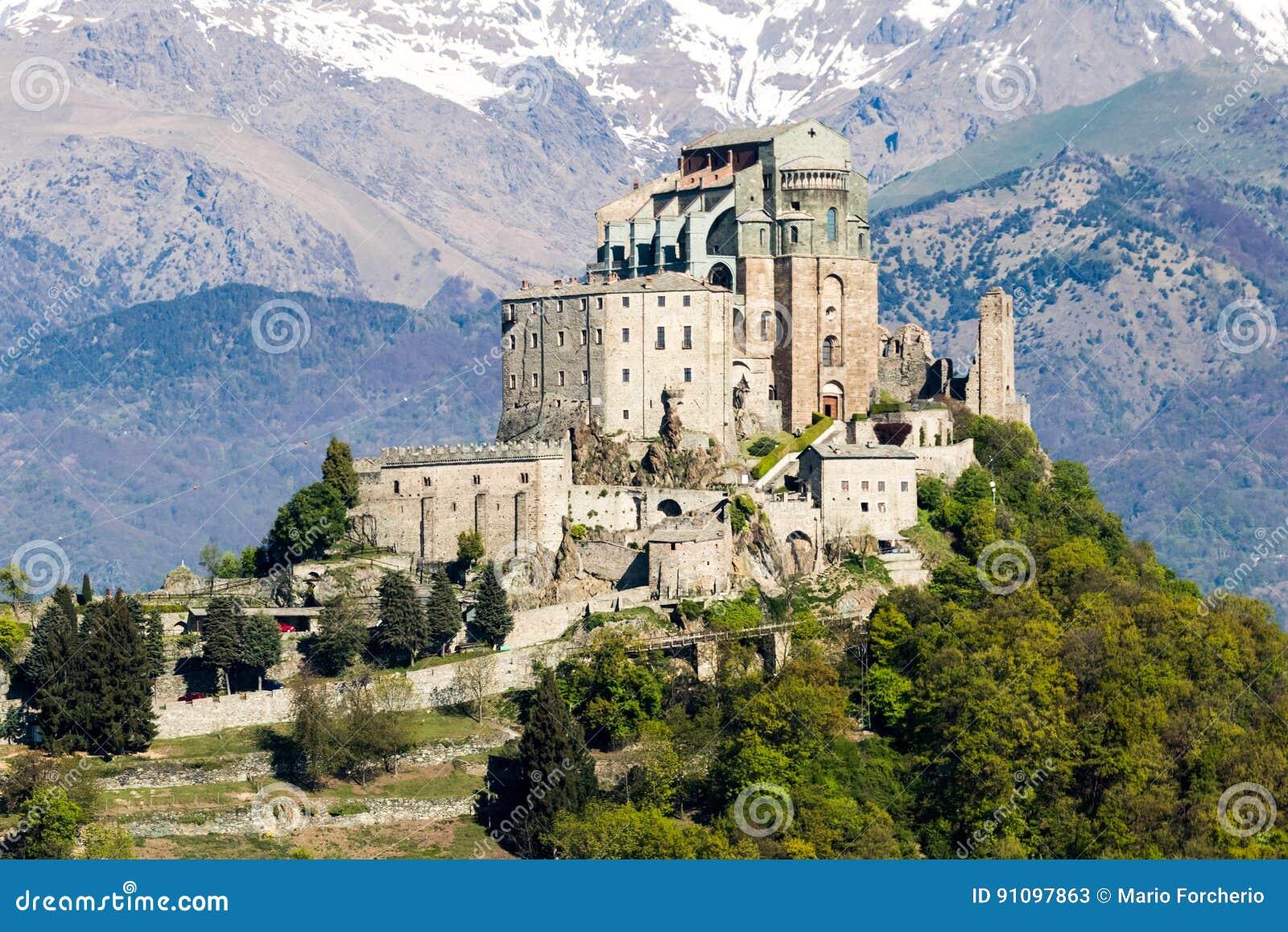 St- Michael` S Abtei Val Di Susas, Torino, Italien Stockbild ...