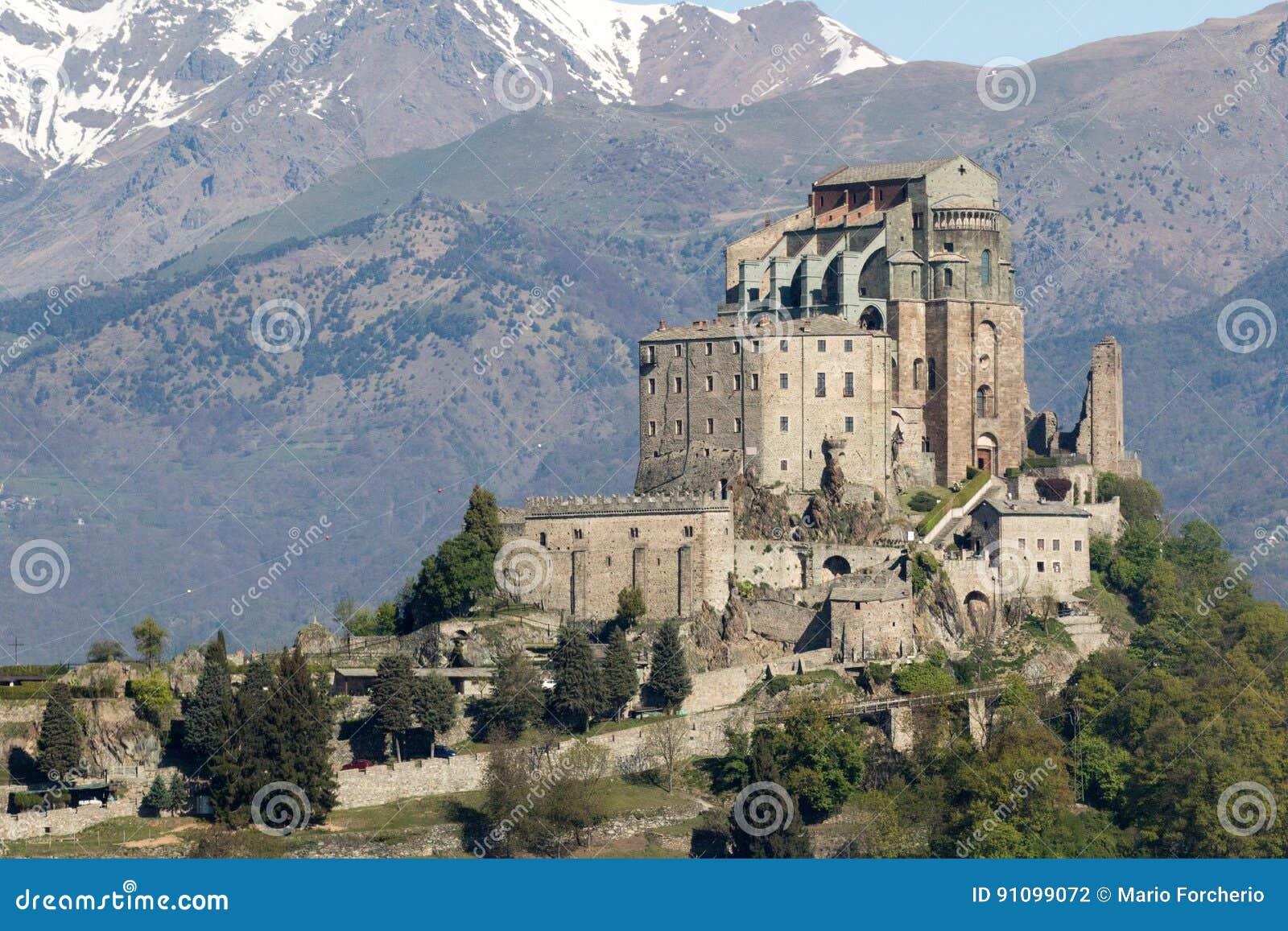 St- Michael` S Abtei Val Di Susas, Torino, Italien Stockfoto ...