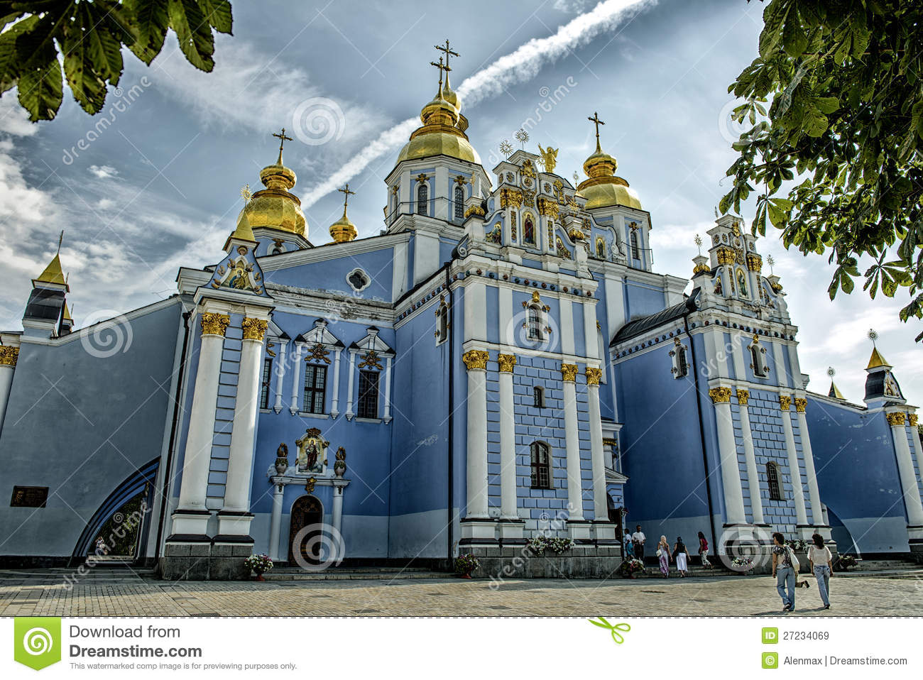 St.Michael's Golden Domed Monastery Editorial Stock Image ...