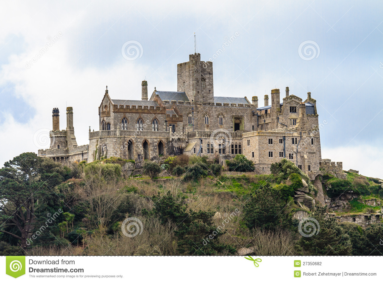 St michael 180 s mount in cornwall uk stock photography image 27350682