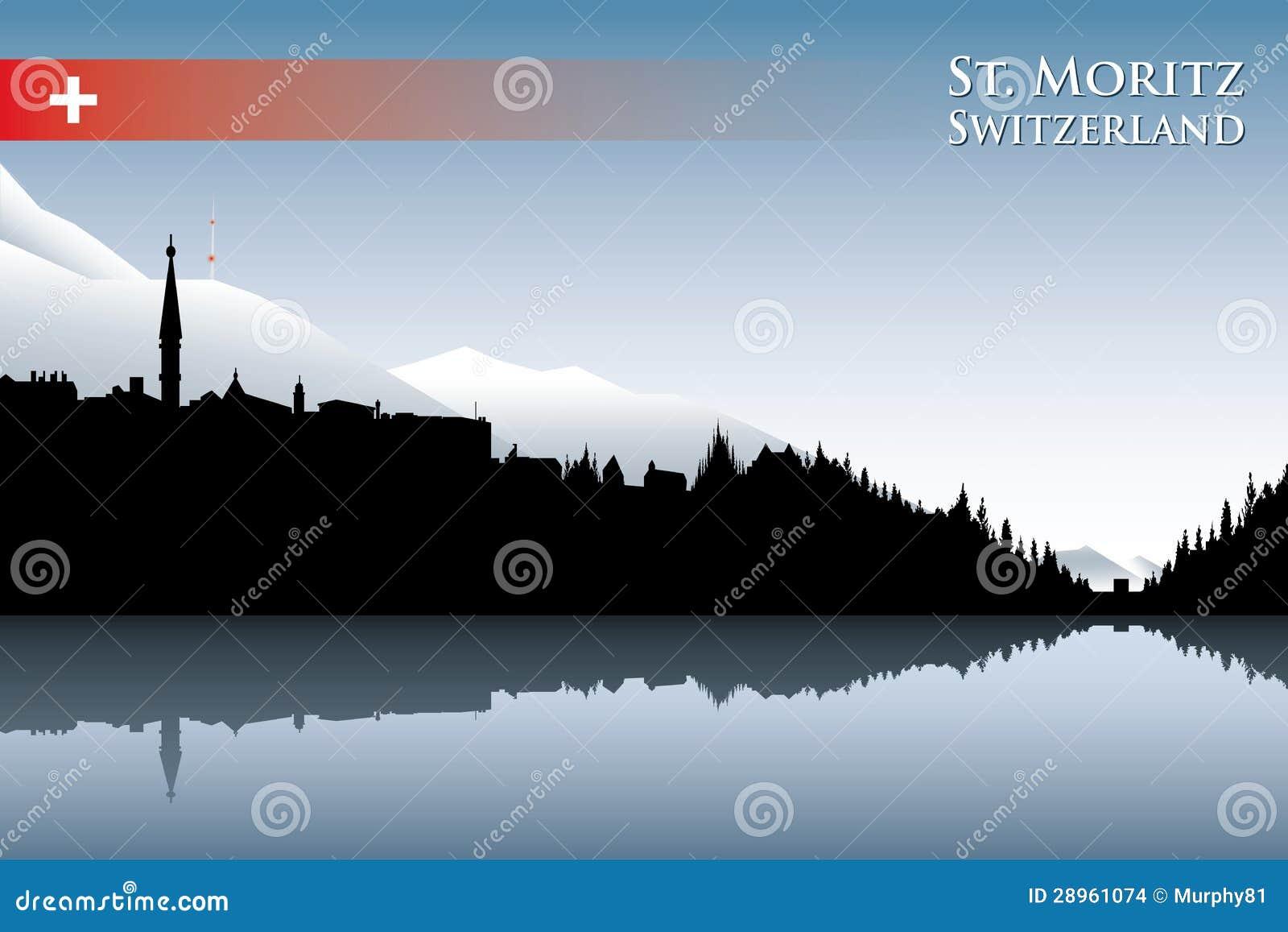 St. Moritz linia horyzontu
