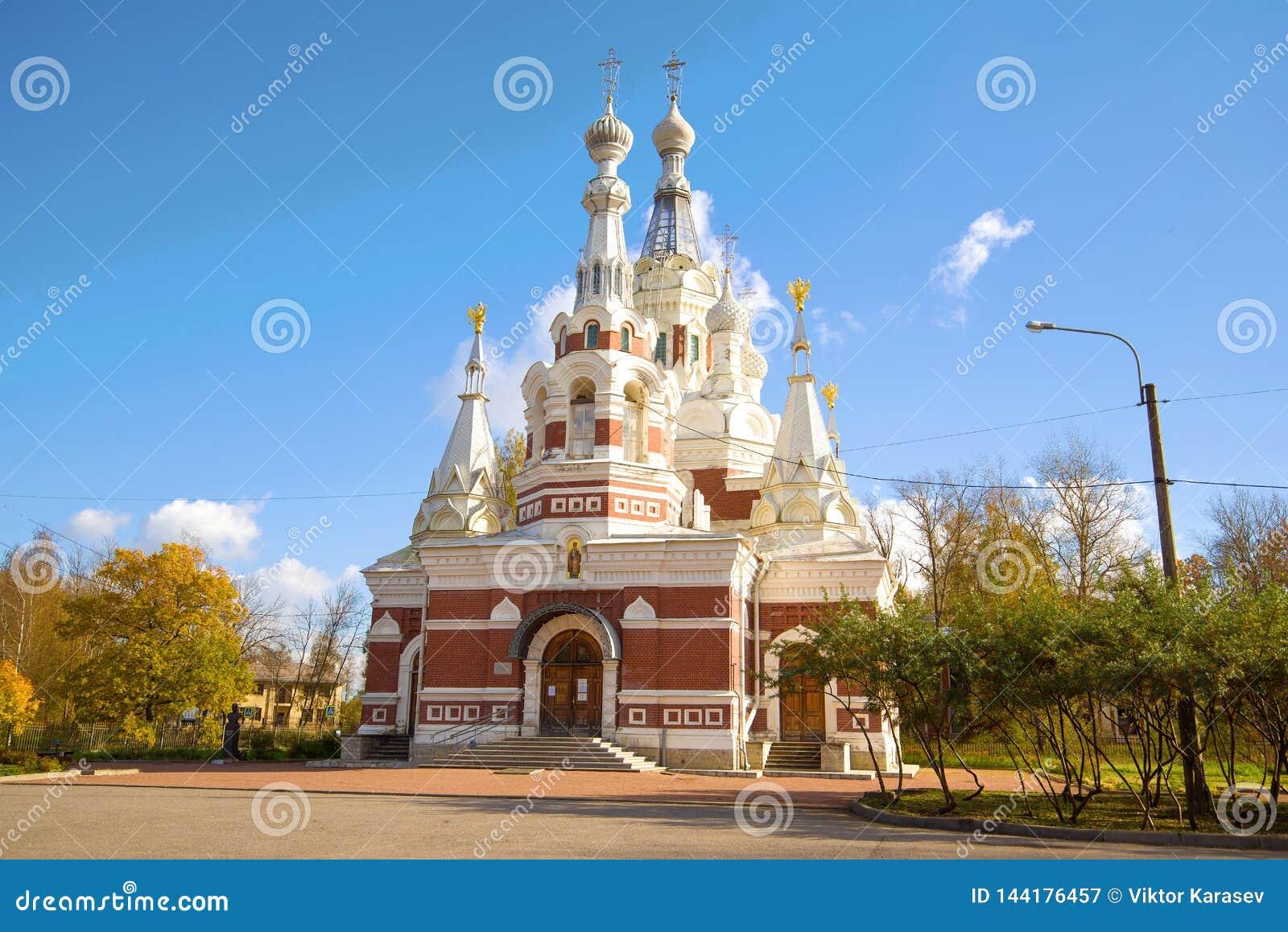 St Nicholas Cathedral, giorno di ottobre Pavlovsk, Russia