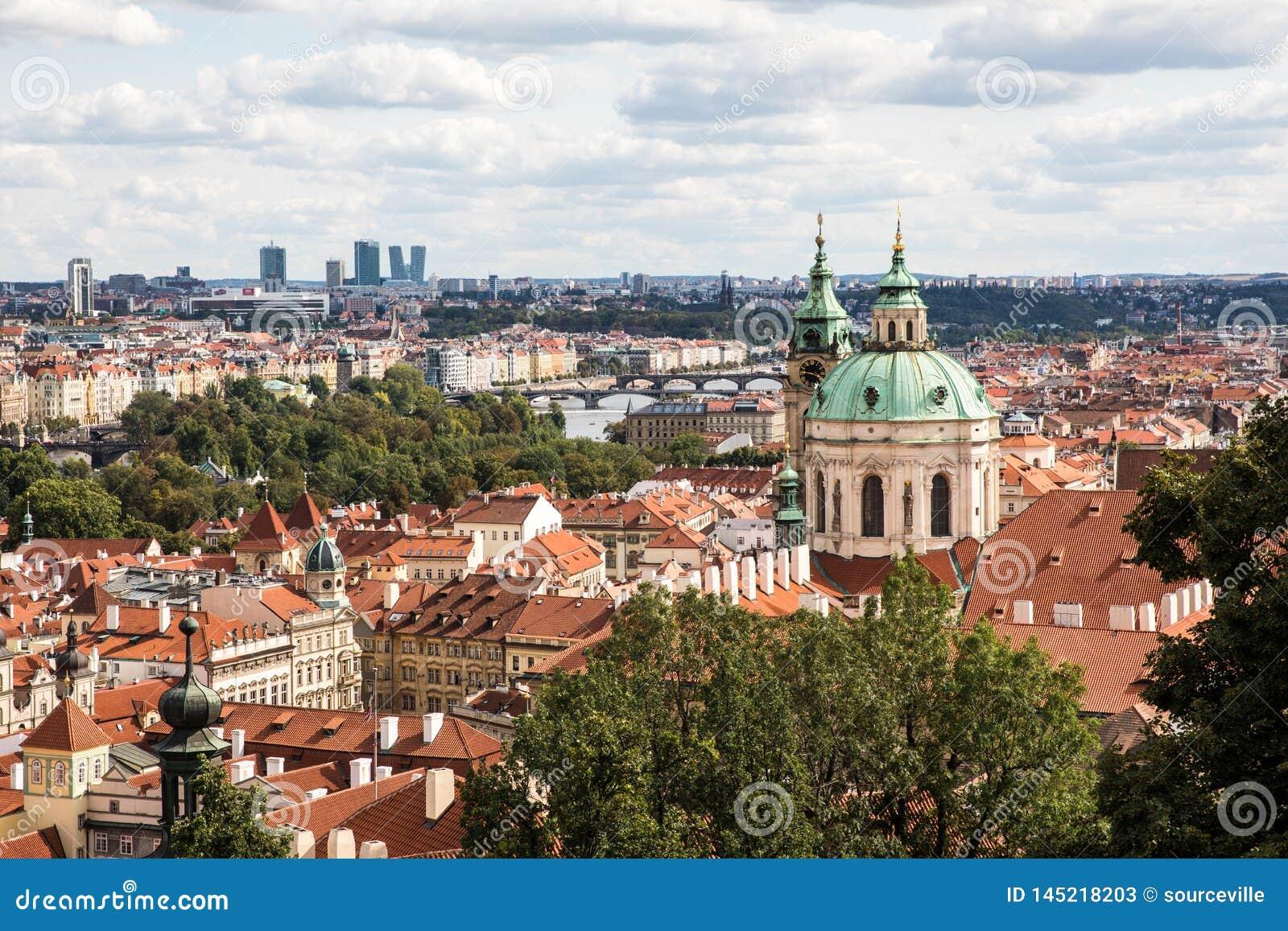 St Nicholas ko?ci?? w Praga, republika czech