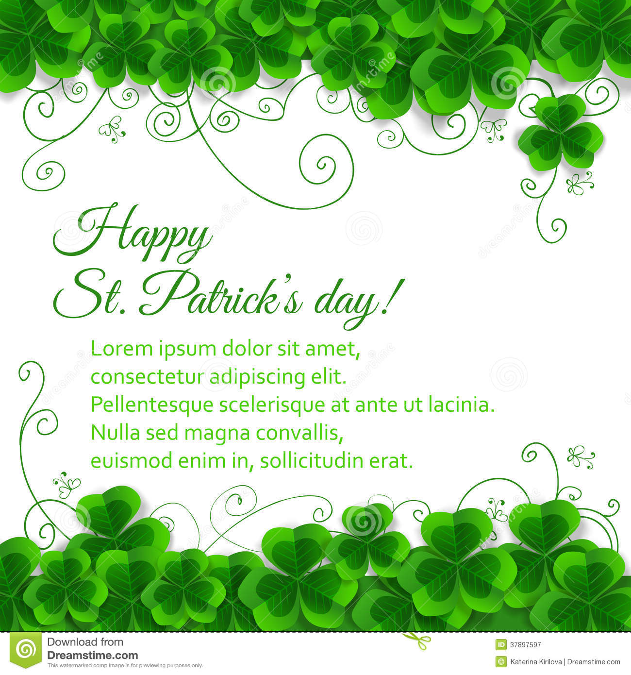 St Patrick Day Card Royalty Free Stock Photography