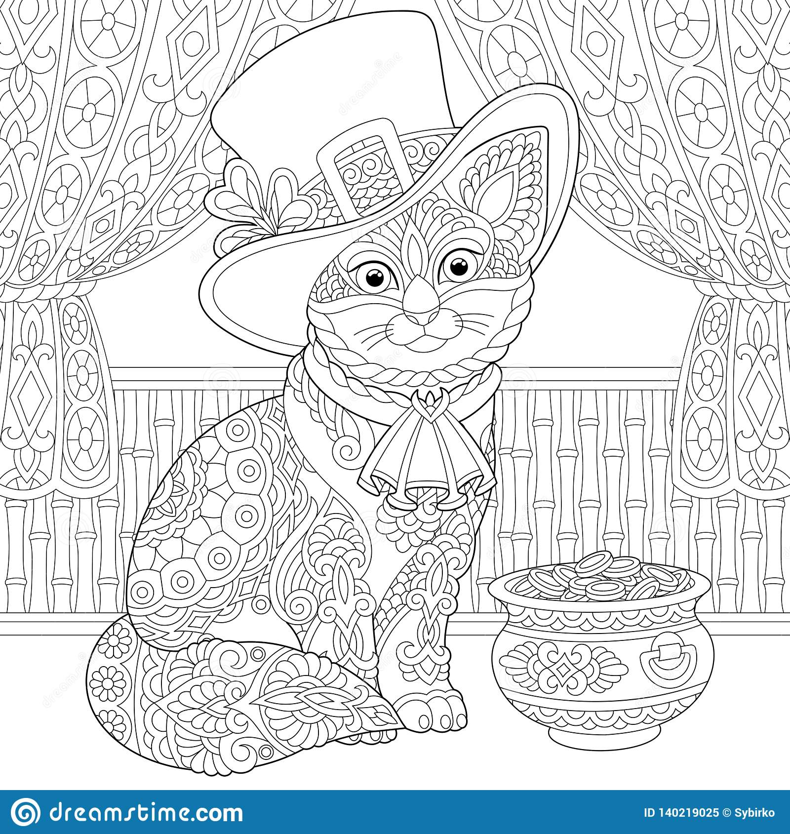 Coloring page St. Patrick's Day Holidays - Free Coloring Pages | 1689x1600