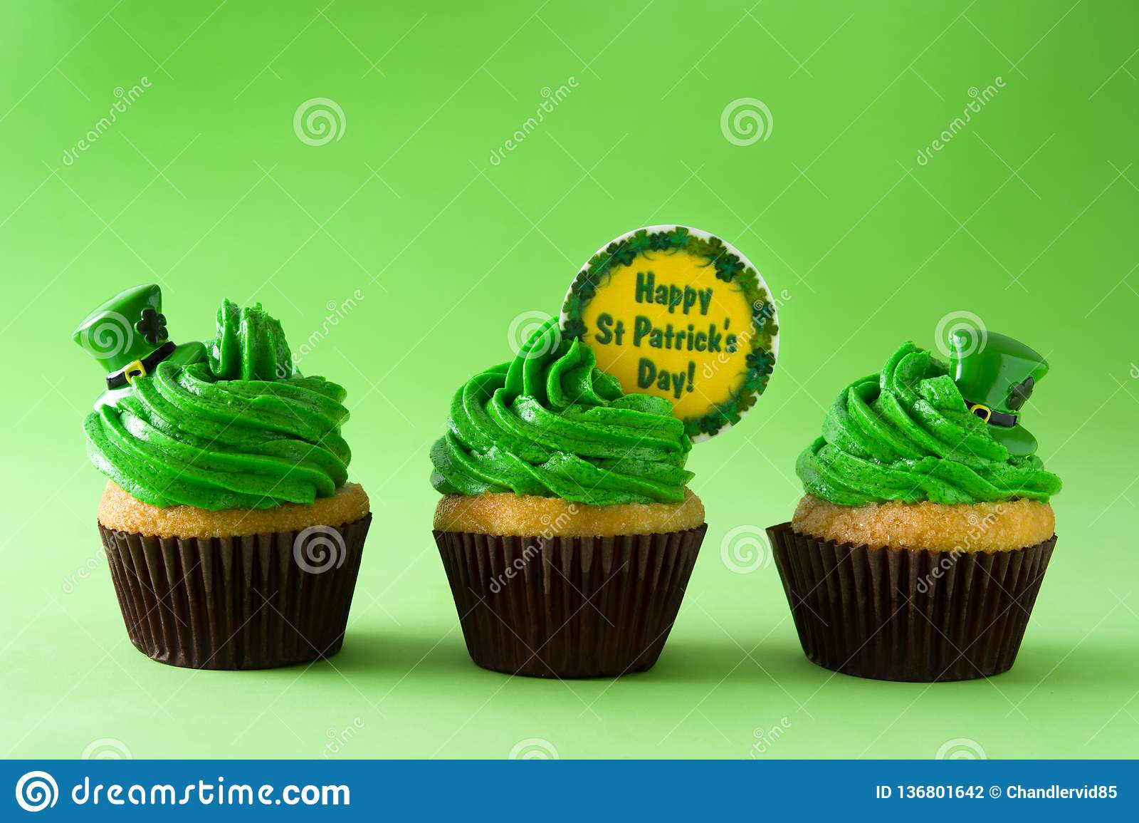 St Patrick dnia babeczki