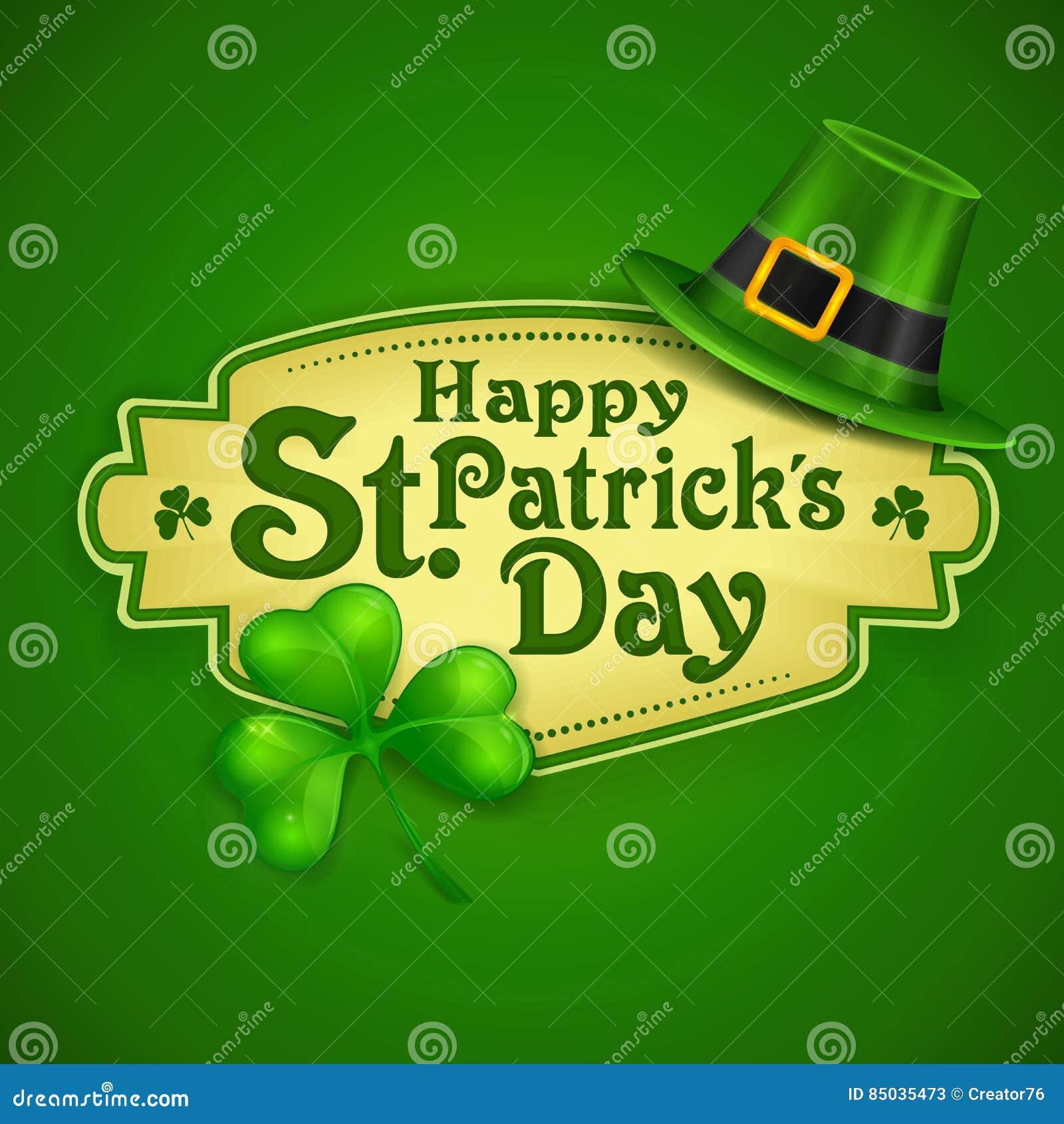 St Patrick dnia zieleni plakat