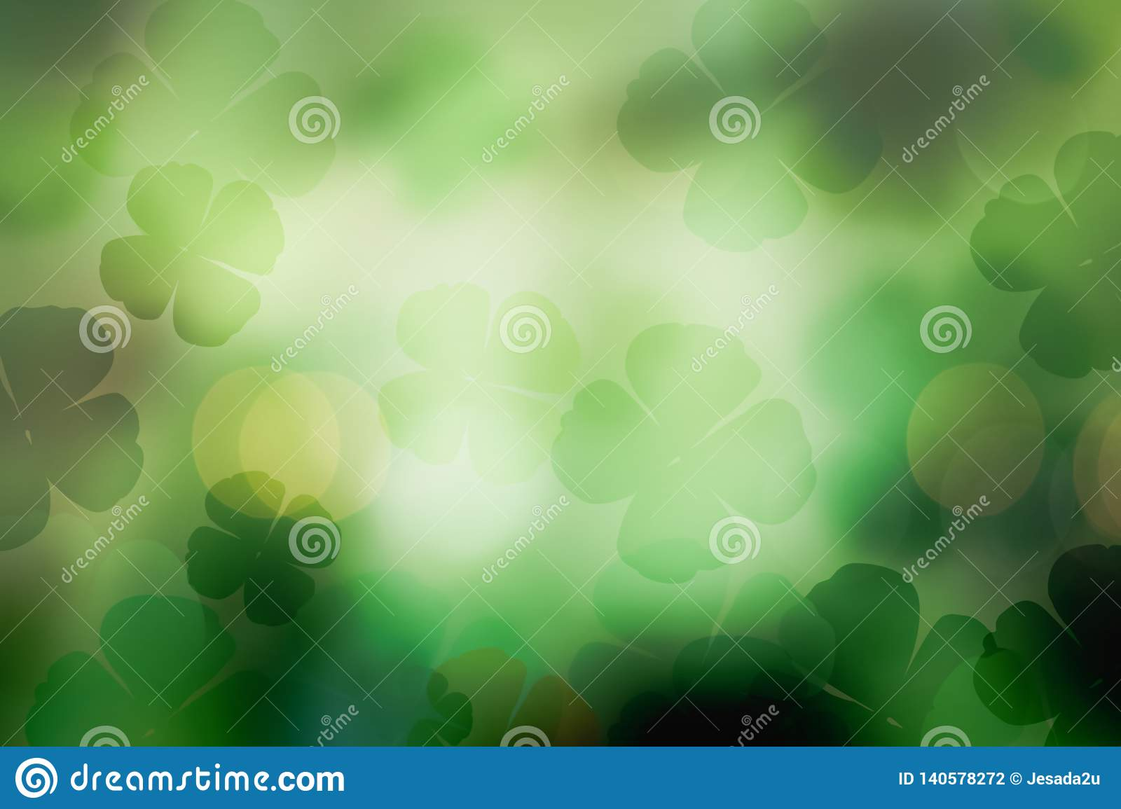 St. patrick`s day abstract green shamrock background for design
