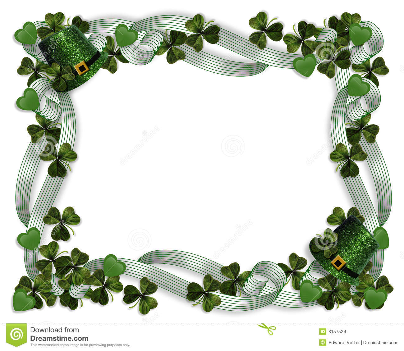 st patrick s day border stock illustration illustration of ireland