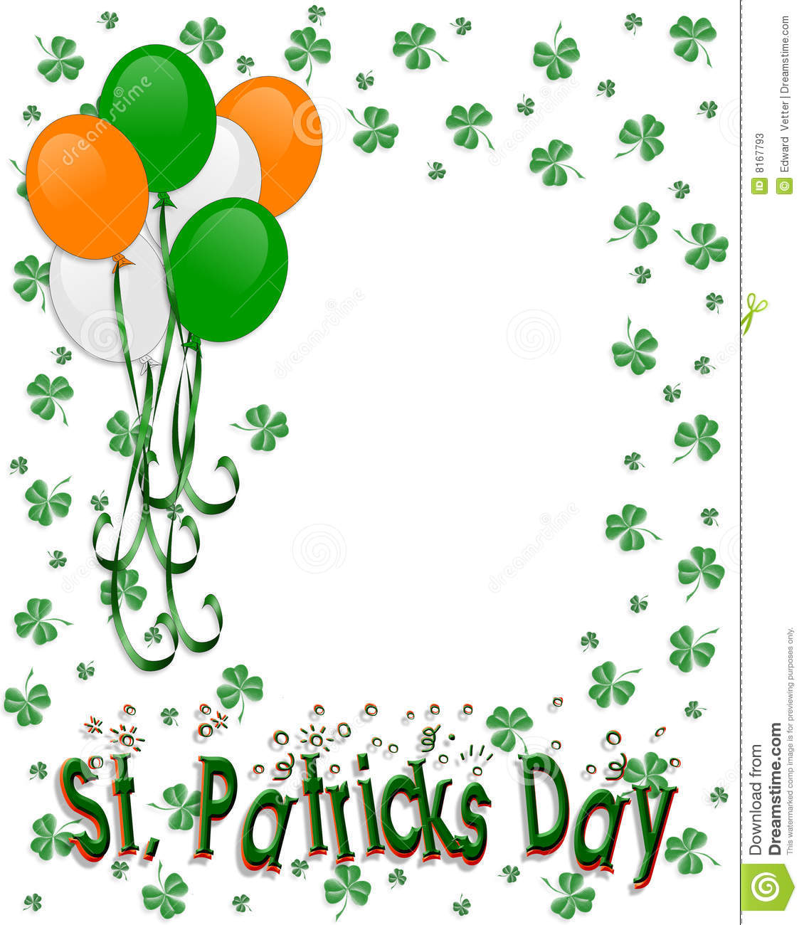 st patrick u0027s day border balloons stock photos image 8167793