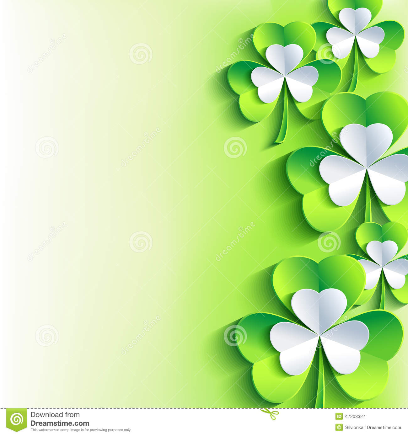 5206ae4b ... gray and green 3d leaf clover. Trendy stylish spring background. Bright  St. Patrick day wallpaper. Vector illustration. More similar stock  illustrations