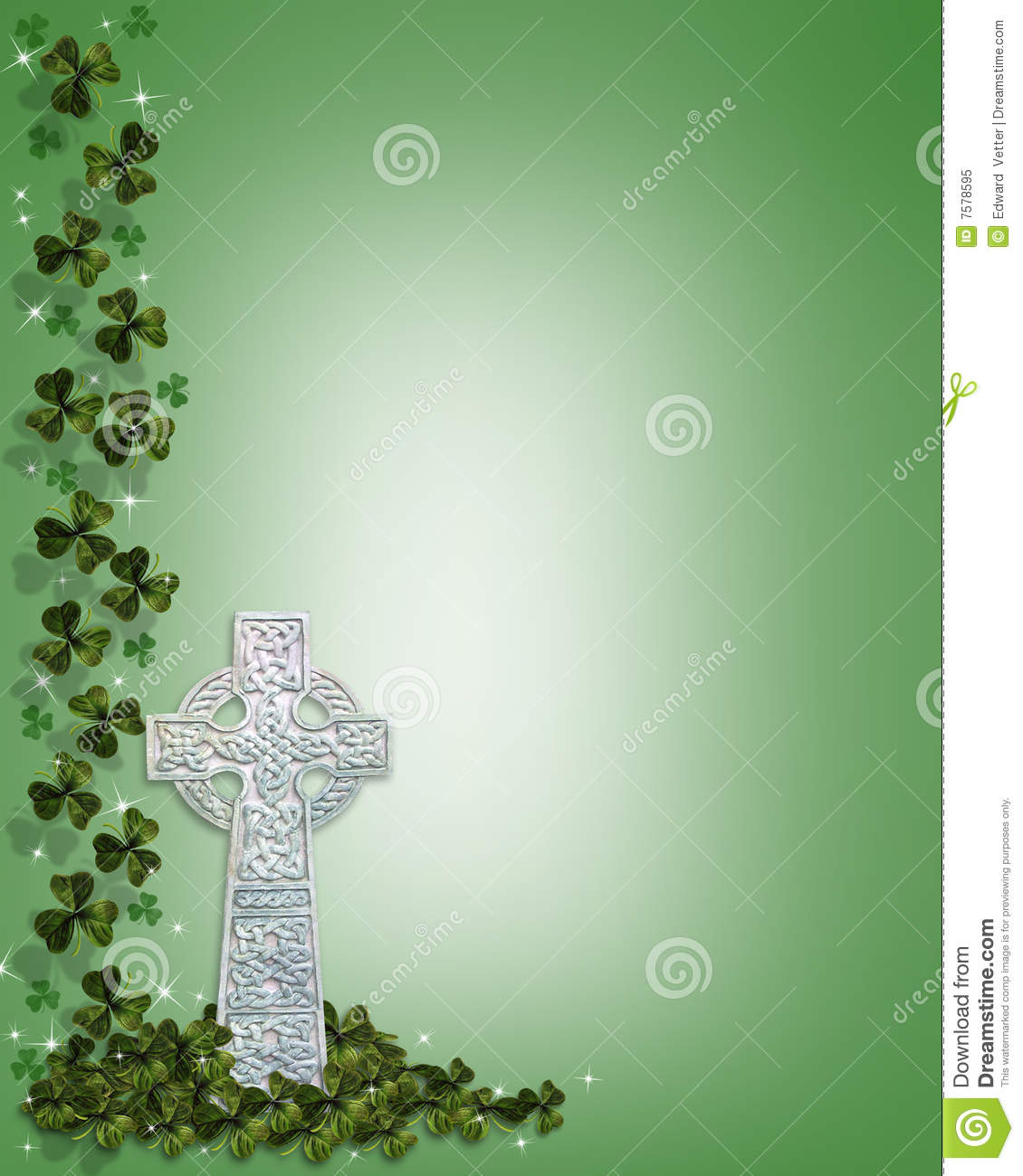 Celtic Cross With Shamrock St patrick s day celtic cross