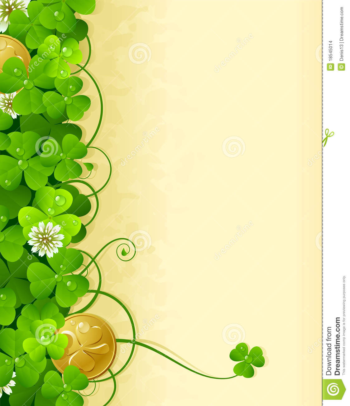 St Patricks Day Frame 3 Stock Vector Illustration Of Abstract