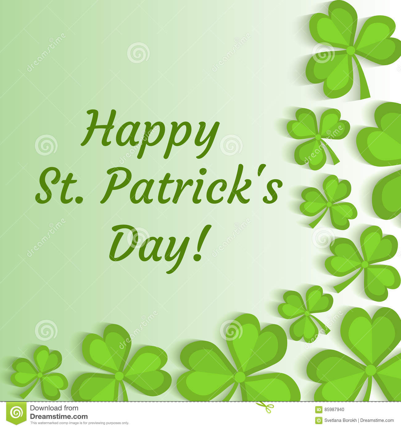 st patrick s day greeting card invitation poster flyer template