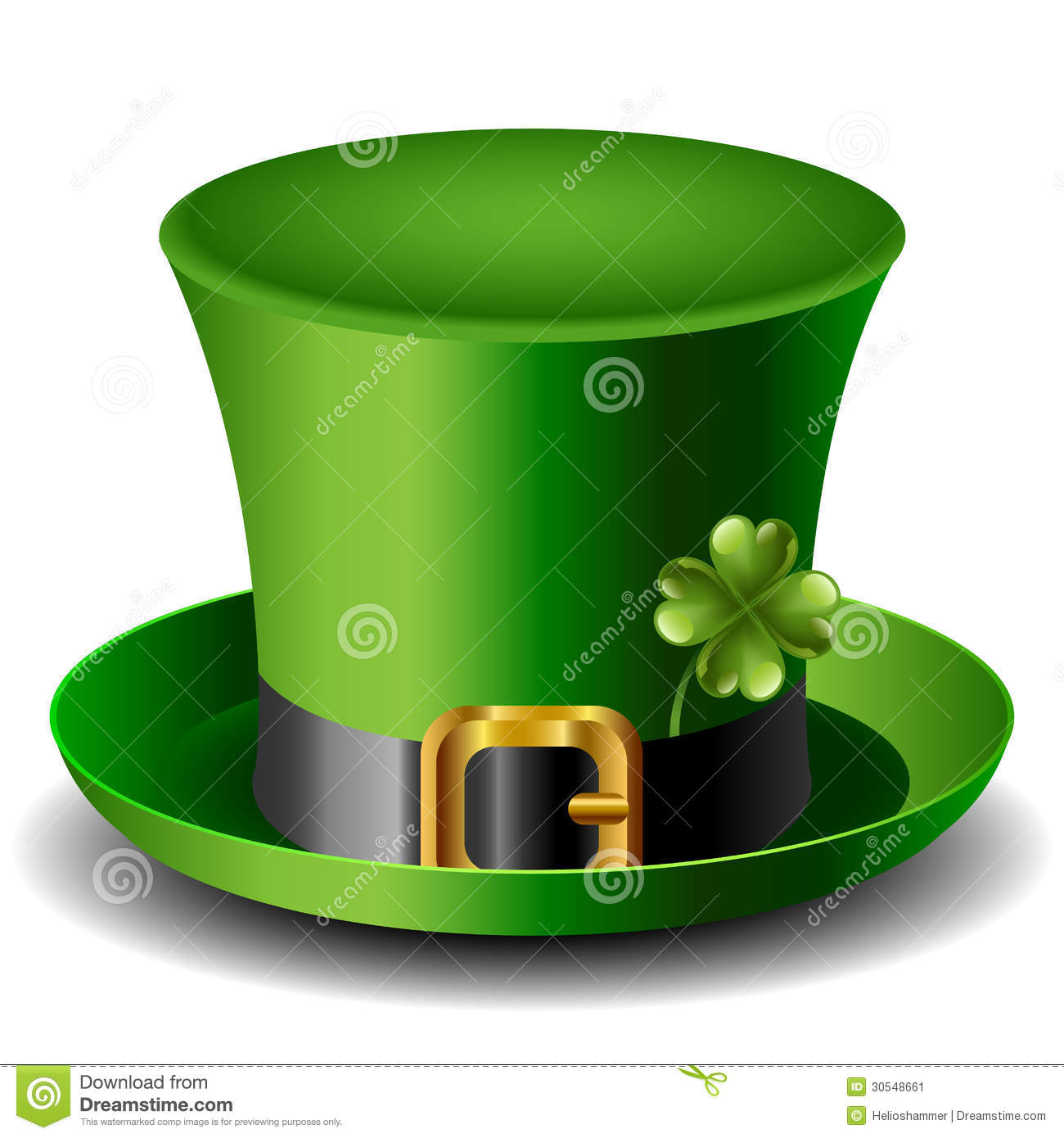 St Patricks Day Hat With Clover Stock Image - Image: 30548661